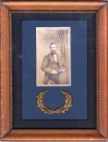 FRAMED CDV UNIDENTIFIED UNION NAVAL OFFICER