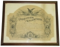 1870 COMMONWEALTH OF MASSACHUSETTS CERTIFICATE OF CIVIL WAR NAVAL SERVICE, ISSUED TO WILLIAM J. YOUNG, U.S. NAVY