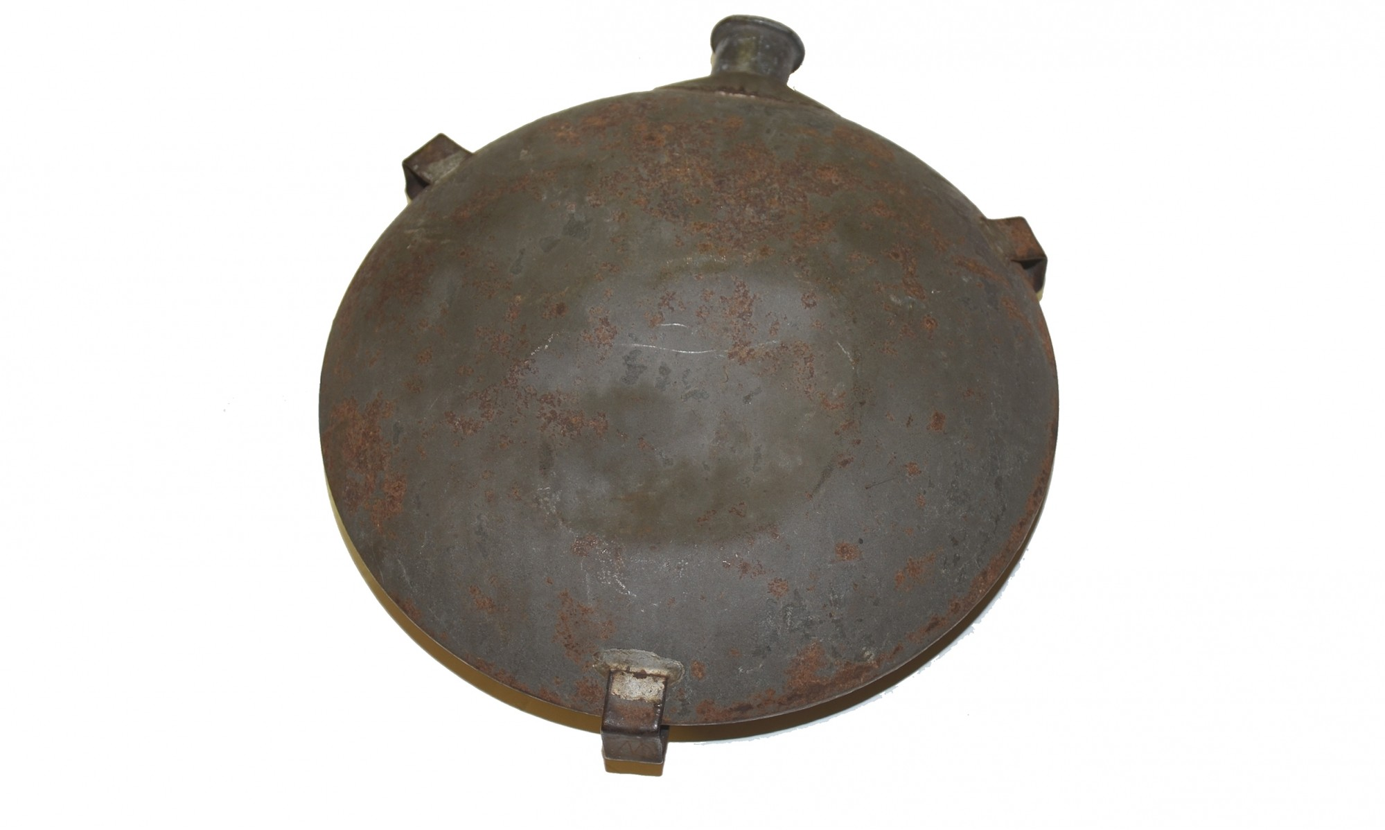 ORIGINAL, M1858 'SMOOTHSIDE' CANTEEN CARRIED BY PRIVATE OLIVER C. CASE, 8TH CONNECTICUT INFANTRY
