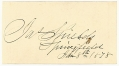 POST WAR SIGNATURE - BRIG. GEN. JAMES SHIELDS