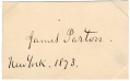 SIGNATURE - NOTED BIOGRAPHER JAMES PARTON