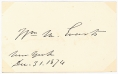 SIGNATURE - POLITICIAN WILLIAM M. EVARTS