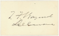 SIGNATURE - POLITICIAN THOMAS F. BAYARD, DELAWARE