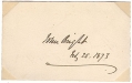 SIGNATURE - JOHN BRIGHT, BRITISH POLITICIAN