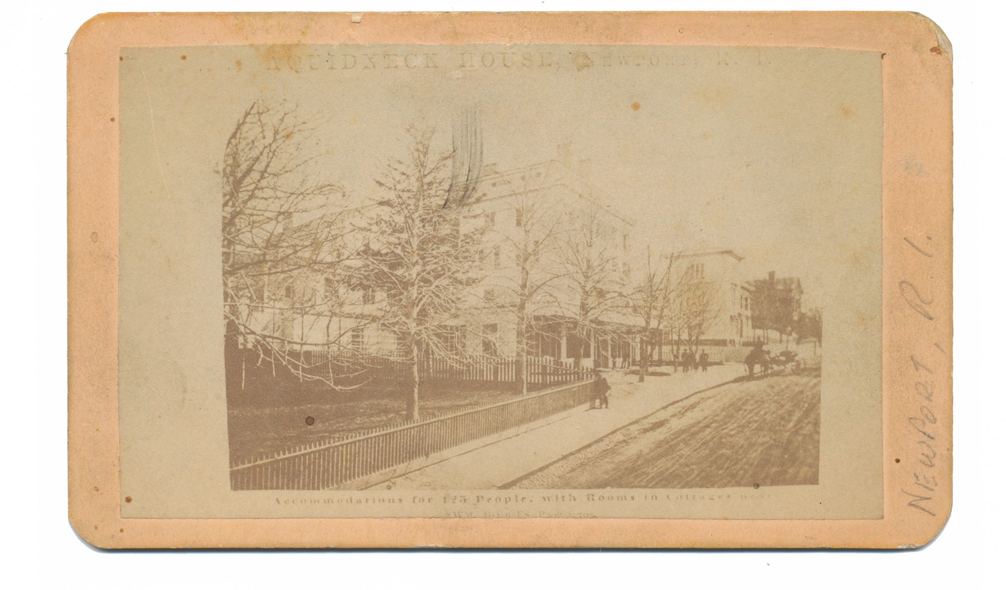 CDV IMAGE OF THE AQUIDNECK HOTEL IN RHODE ISLAND - JOHN WILKES BOOTH