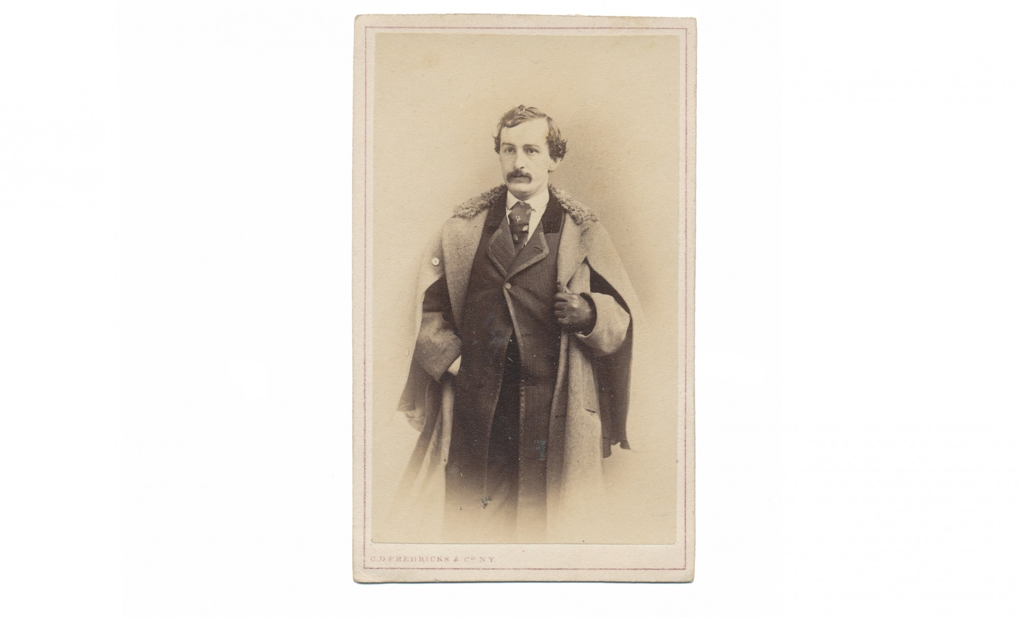 CDV OF JOHN WILKES BOOTH BY FREDERICKS OF NEW YORK