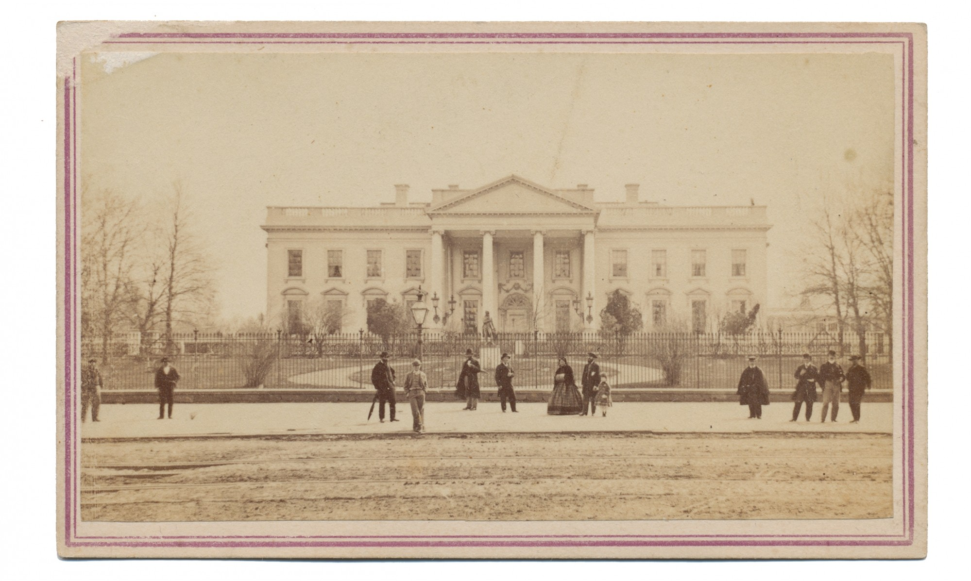 CDV WARTIME VIEW OF THE WHITE HOUSE