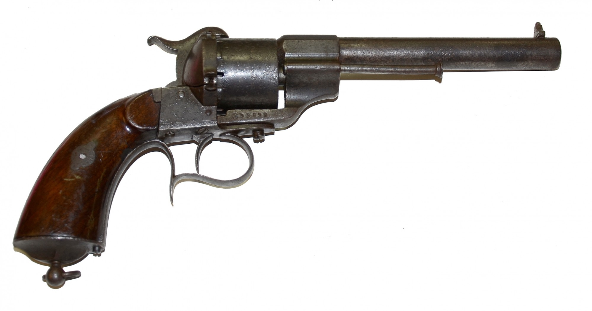 LEFAUCHEUX PINFIRE REVOLVER IDENTIFIED TO SERGEANT WILLIAM O. BLANCHARD, 9TH MISSOURI UNION CAVALRY