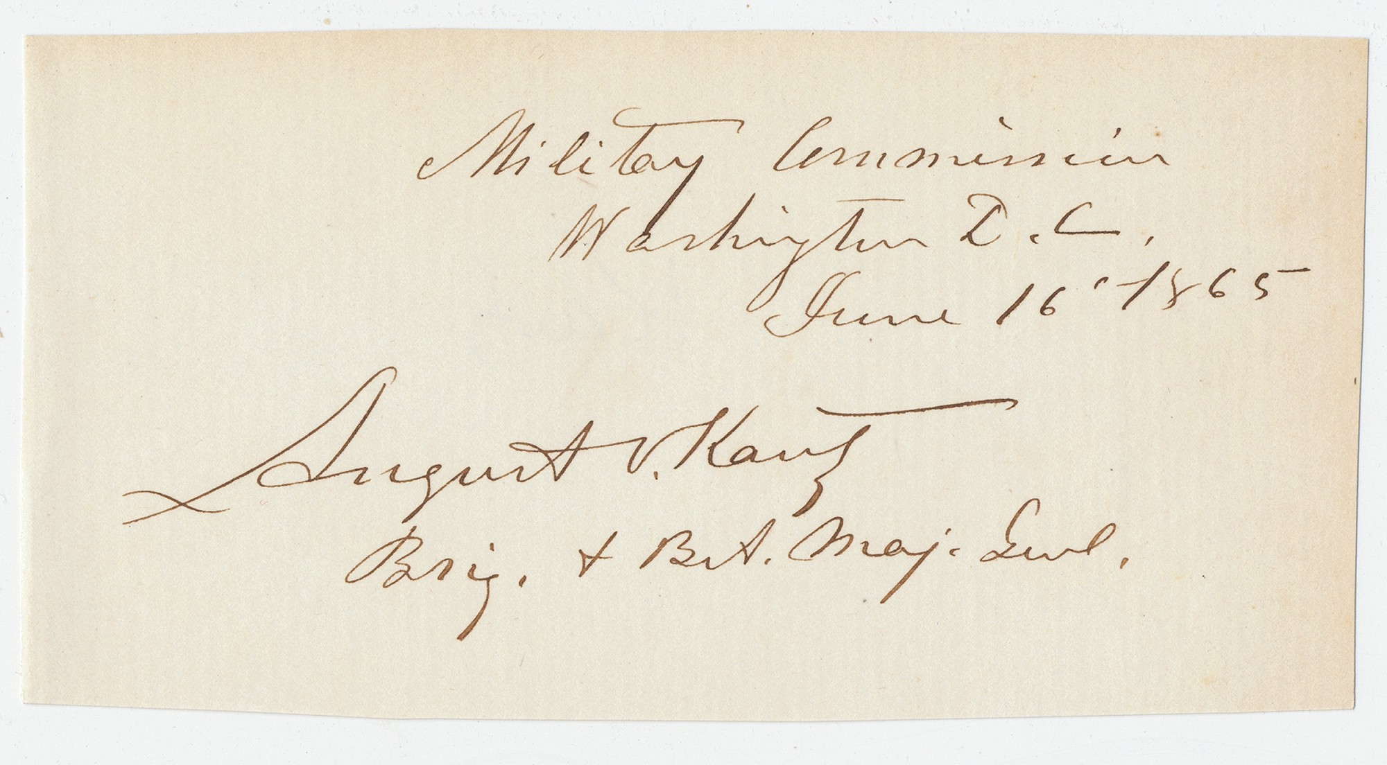 AUTOGRAPH OF A MEMBER OF THE LINCOLN ASSASSINATION COMMISSION