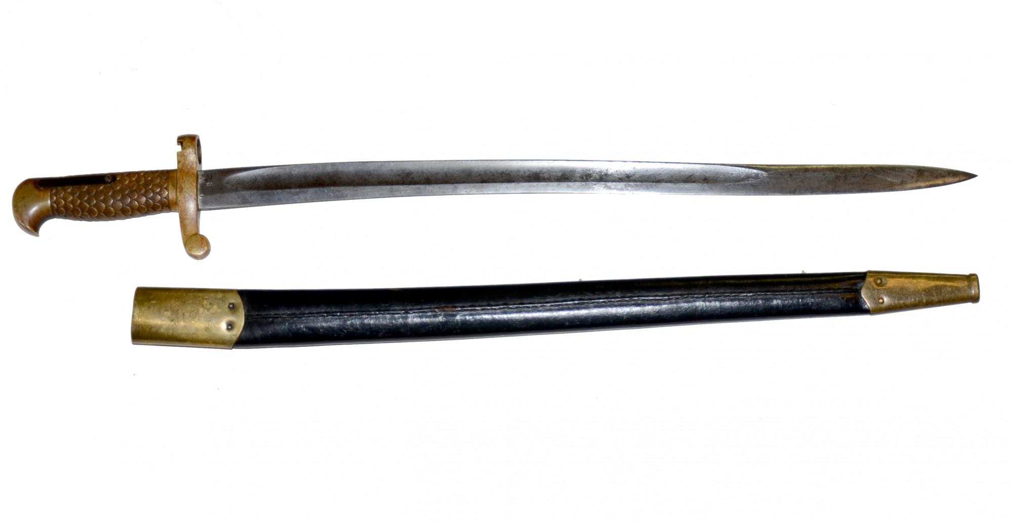 Rare 1873 1876 Winchester Rifle Musket Bayonet Amp Scabbard
