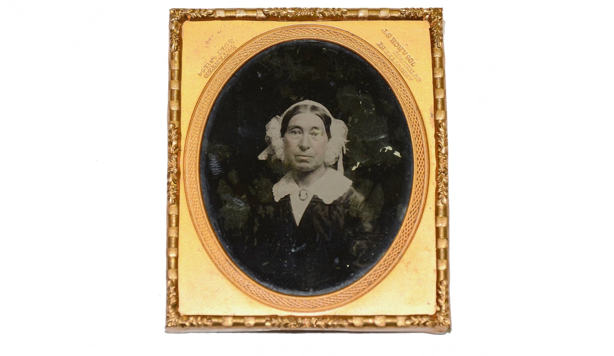 SIXTH PLATE TINTYPE OF AN OLDER WOMAN