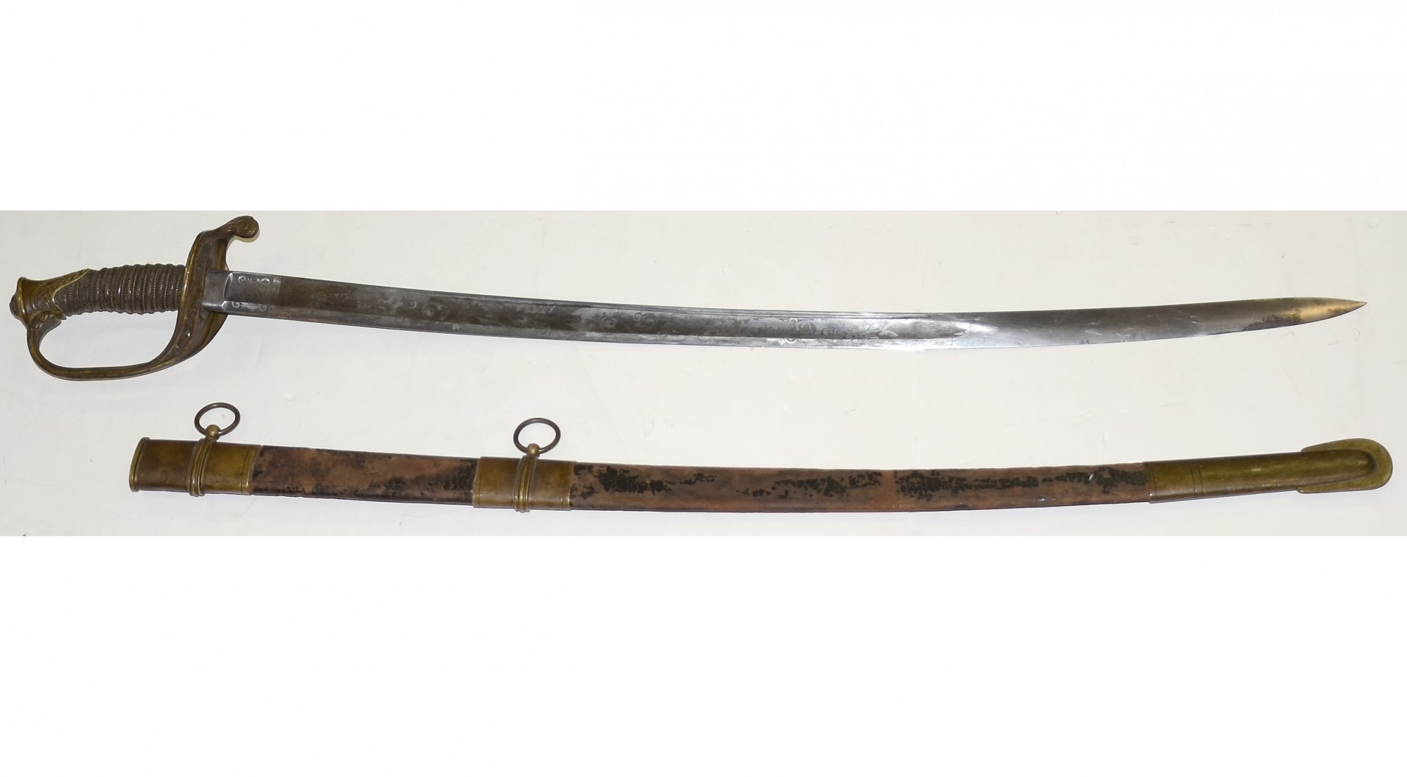 M1850 FOOT OFFICER'S SWORD AND SCABBARD BY MINTZER, PHILADELPHIA