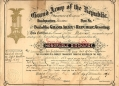 1889 GAR DOCUMENT - CULVER MARSHALL, 1ST NEW JERSEY CAVALRY