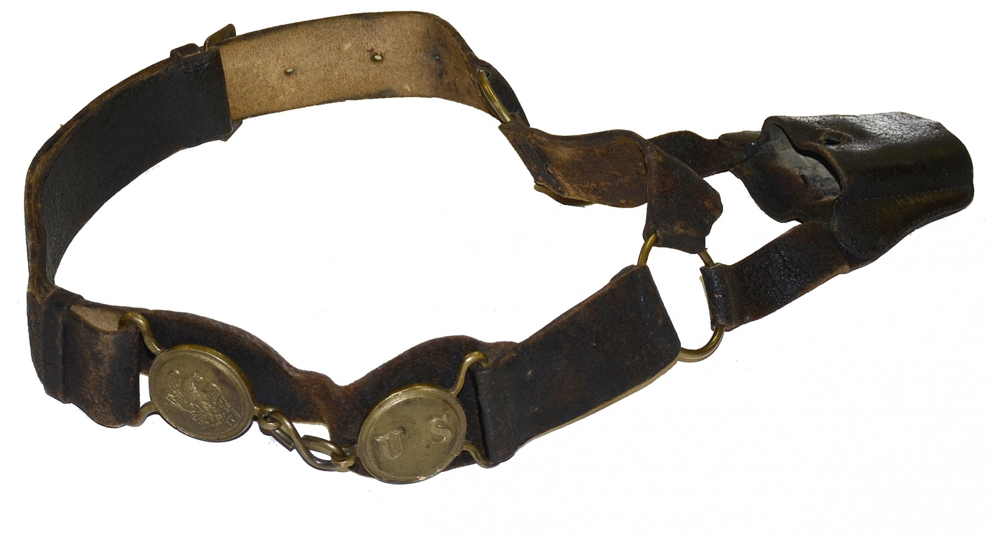 1830's INFANTRY NCO WAIST BELT AND PLATE