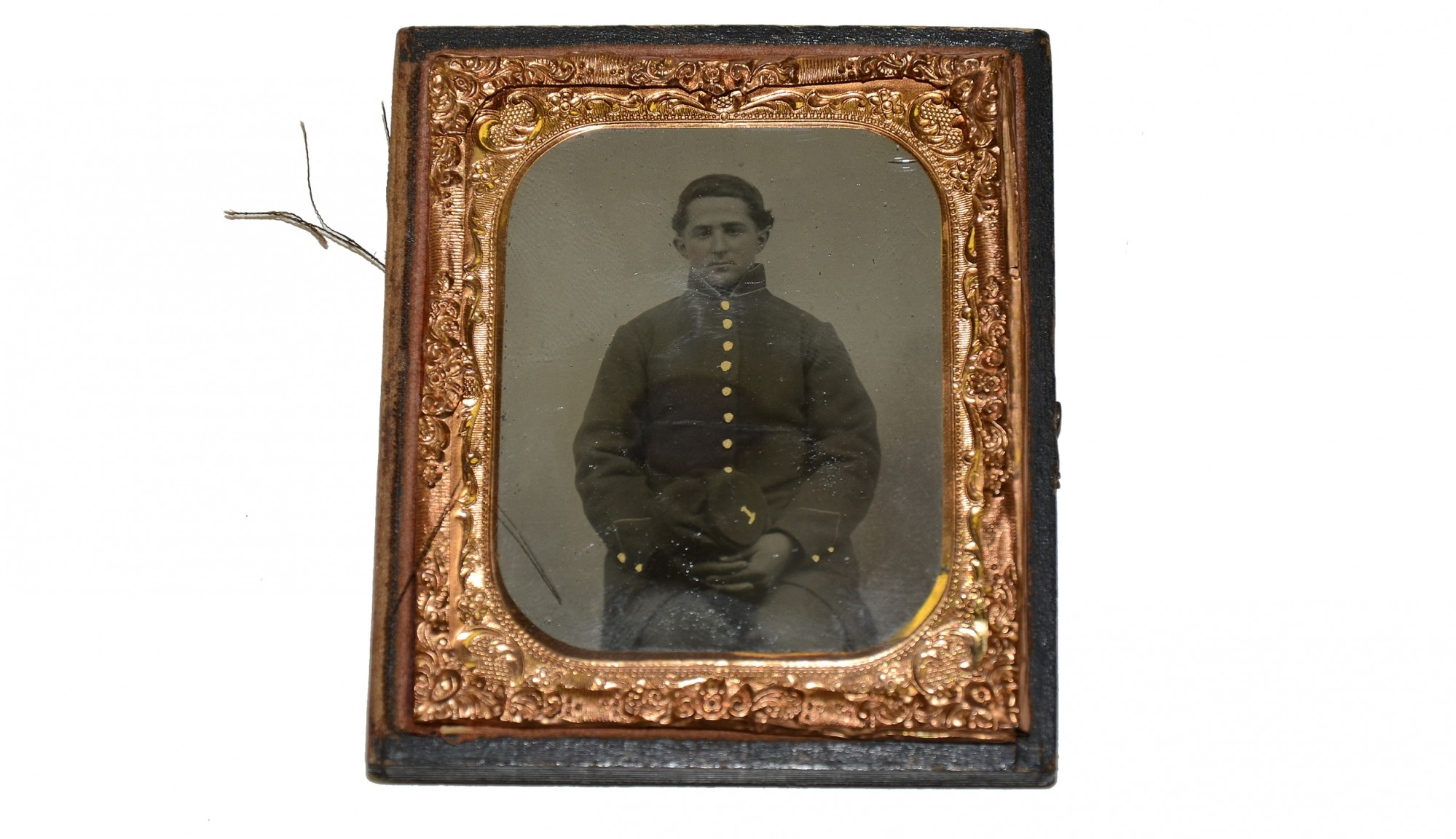 SIXTH PLATE TINTYPE OF 49TH PENNSYLVANIA SOLDIER