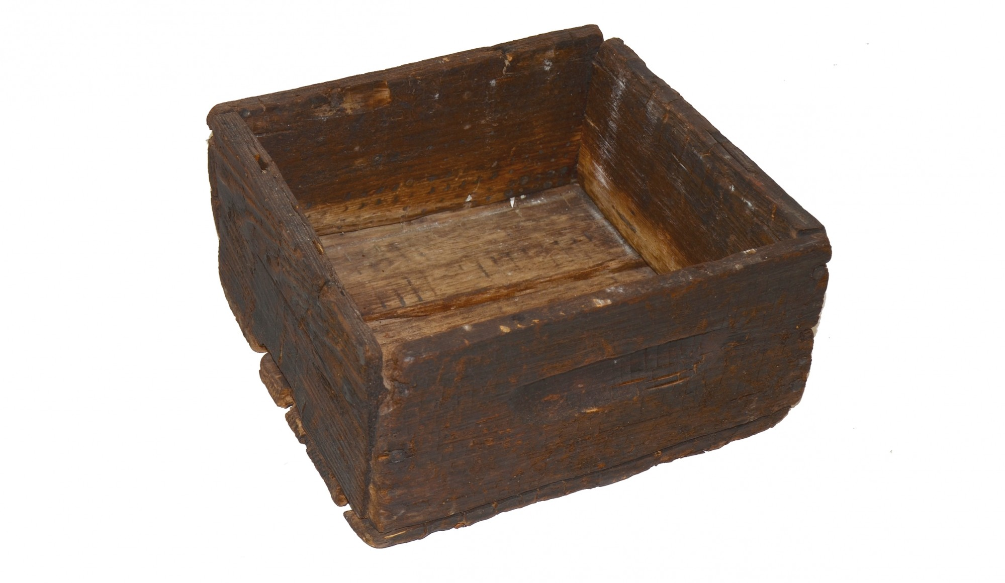 AMMUNITION CRATE FOR BRASS CASED GALLAGHER CARTRIDGES PULLED FROM THE JAMES RIVER, WITH SOME CARTRIDGES FOUND WITH THE CRATE