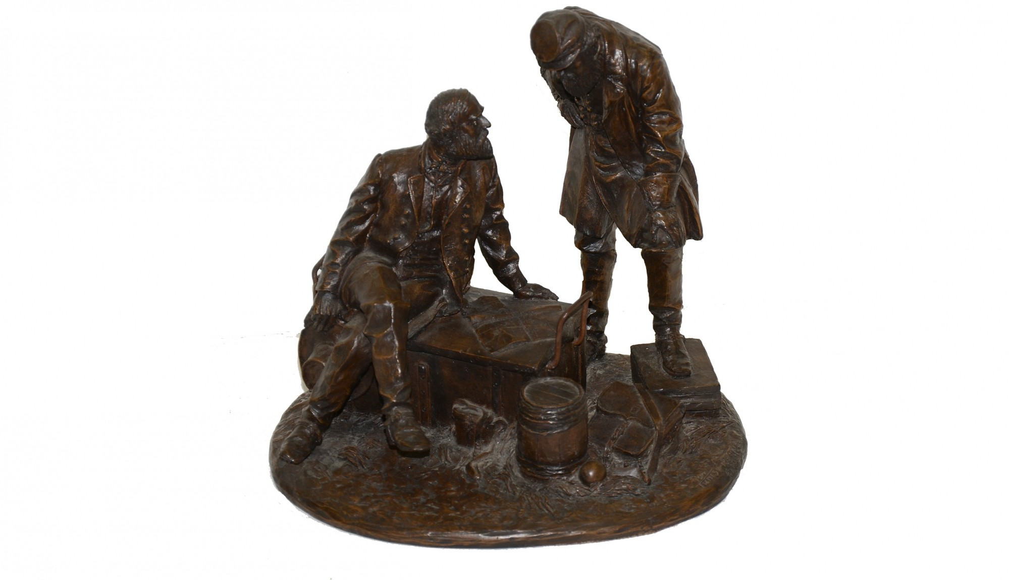"RON TUNISON STATUE ""LEE AND JACKSON"""