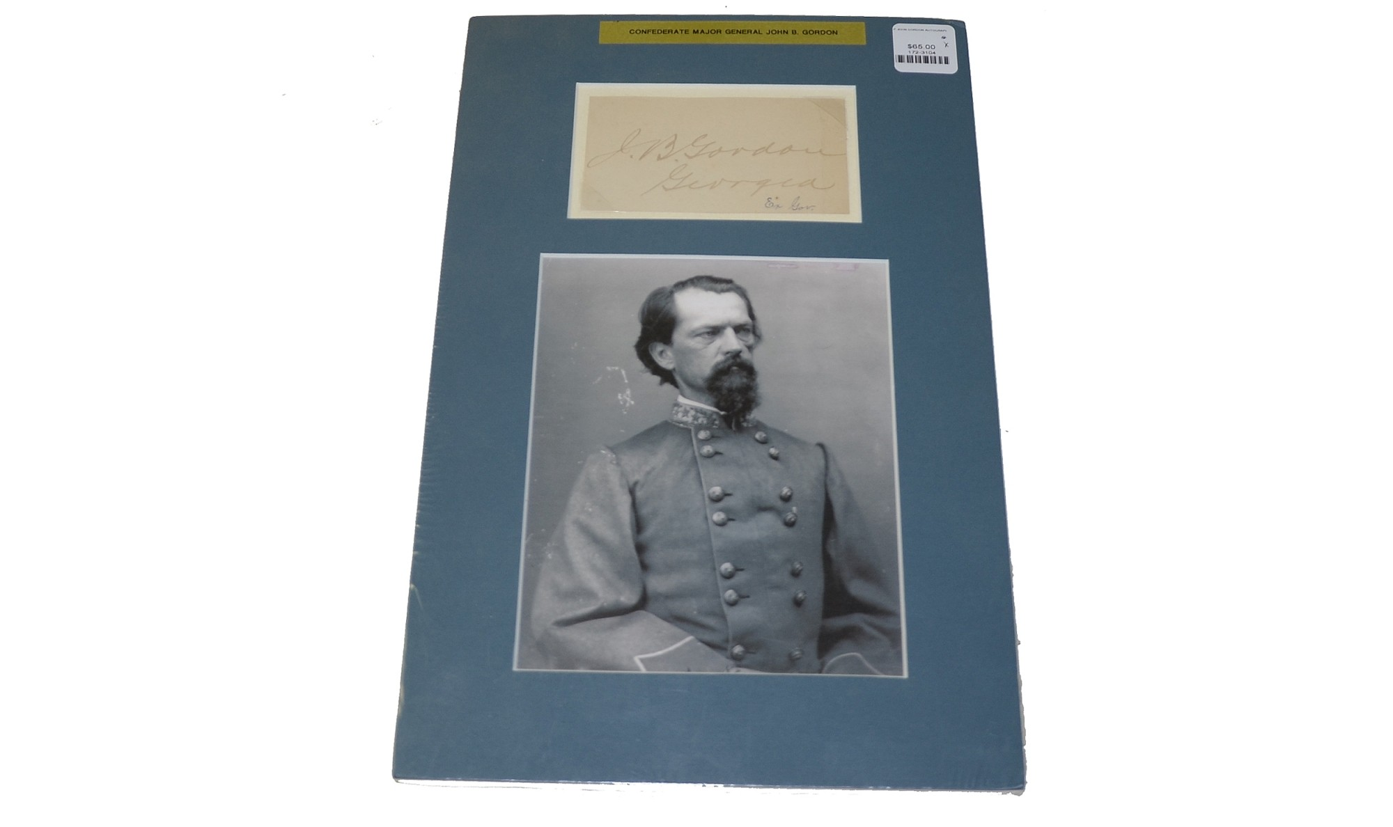 CLIPPED SIGNATURE OF CONFEDERATE GENERAL JOHN BROWN GORDON