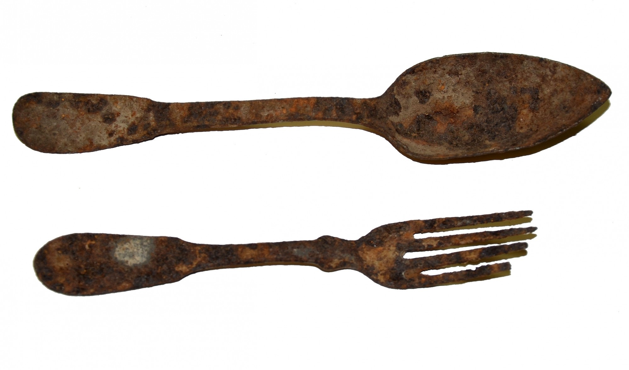 RELIC SPOON & FORK FROM THE FAMOUS DANNER COLLECTION, GETTYSBURG