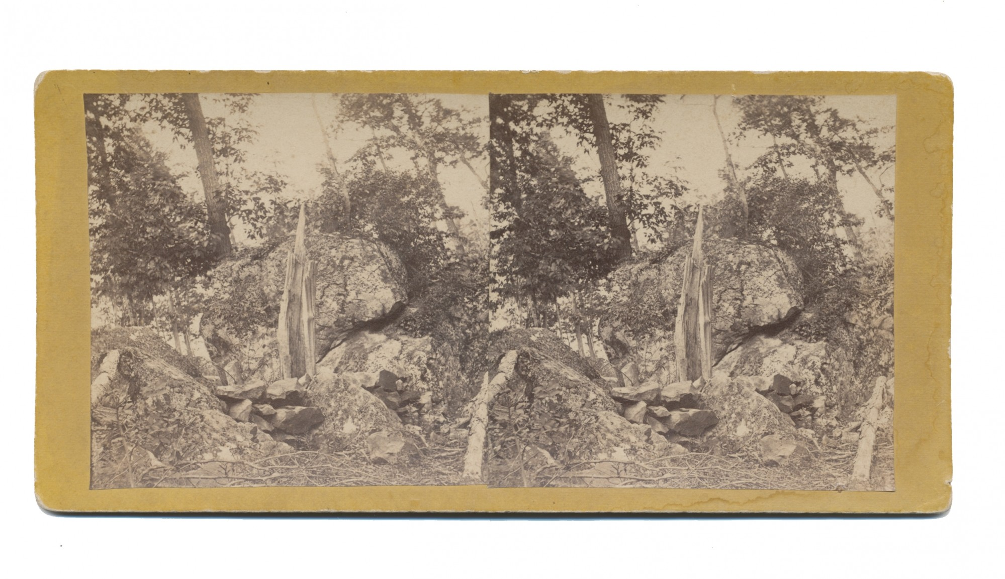 TYSON STEREO VIEW OF CULP'S HILL AT GETTYSBURG