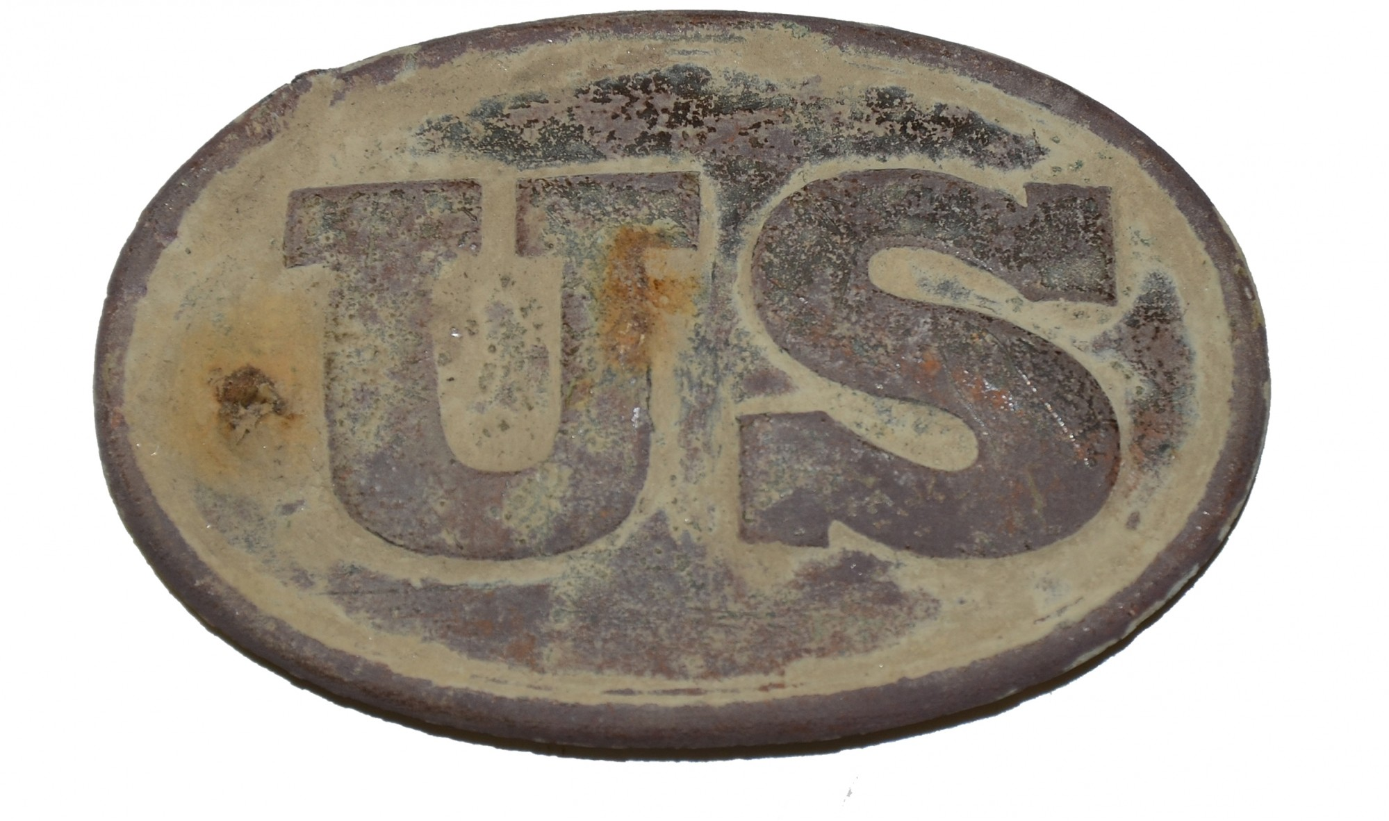 PATTERN 1839 CARTRIDGE BOX PLATE RECOVERED AT GETTYSBURG