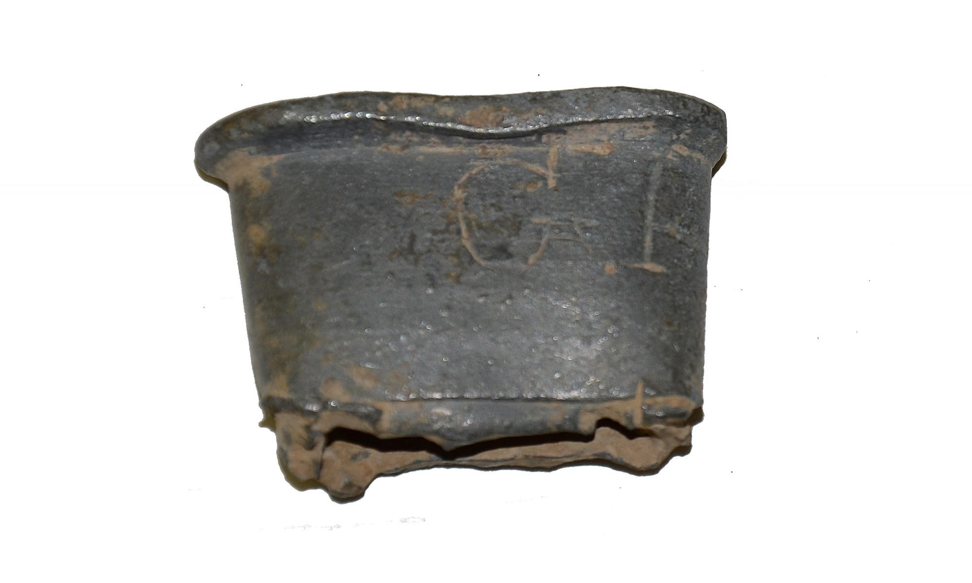 PEWTER CANTEEN SPOUT WITH INITIALS FROM GETTYSBURG