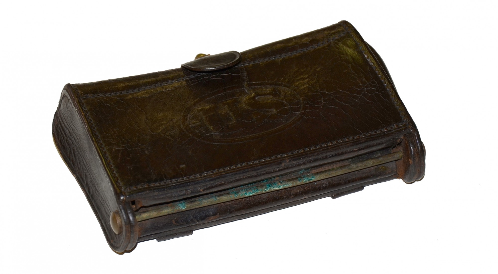 ARSENAL MARKED INDIAN WAR MCKEEVER CARTRIDGE BOX WITH AMMO