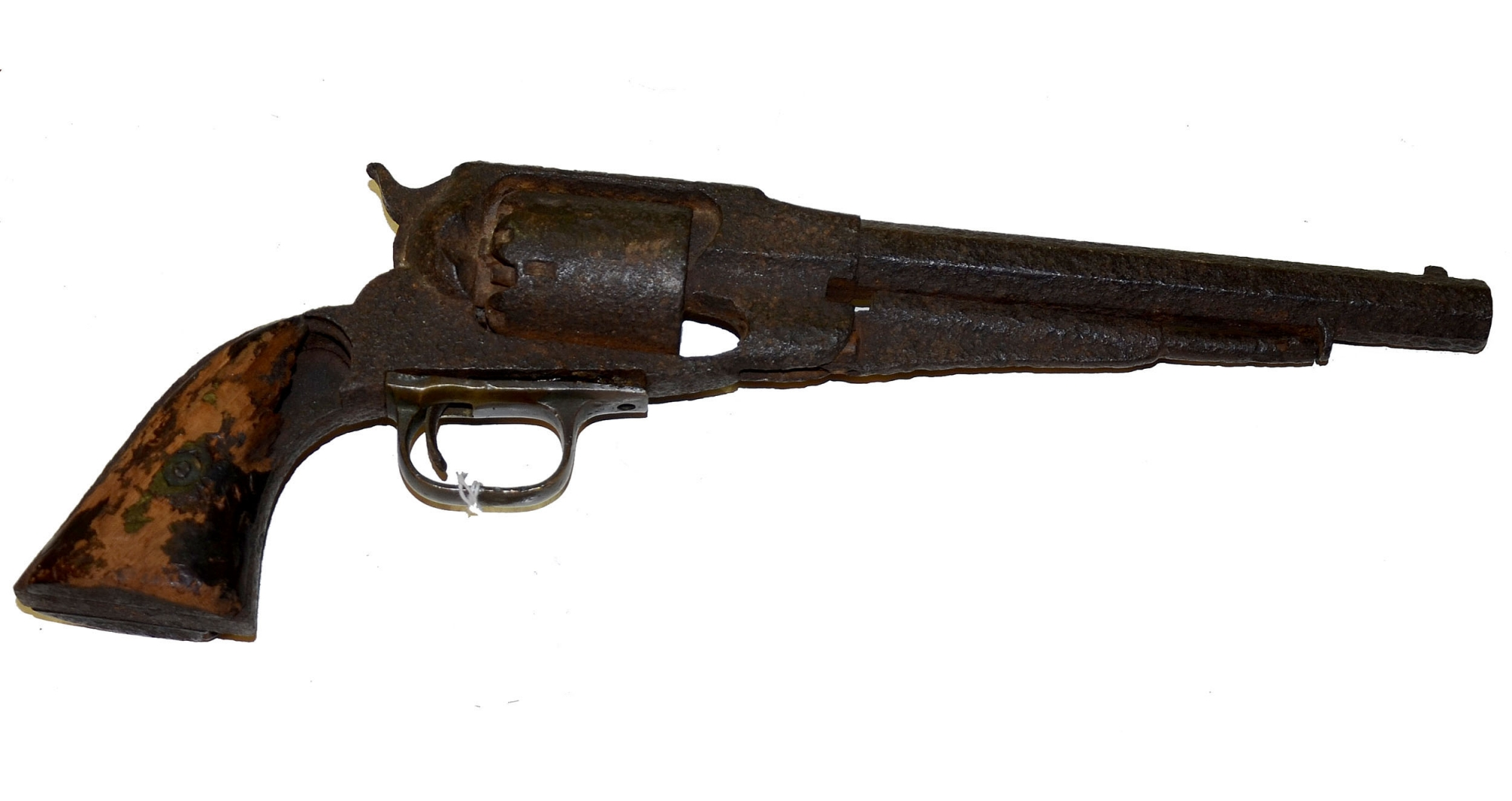 LOADED RELIC REMINGTON REVOLVER RECOVERED AT COLD HARBOR