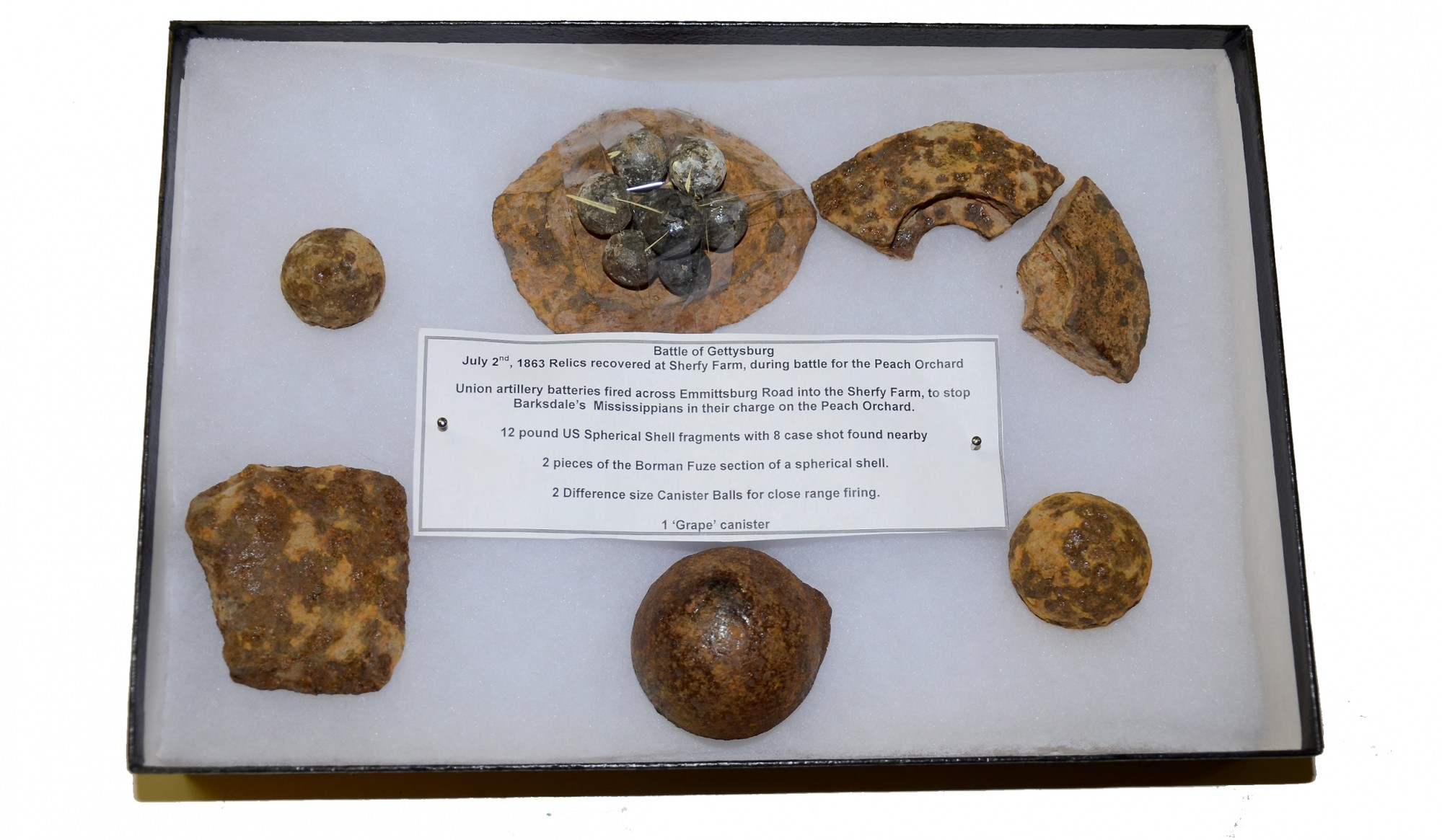 RELICS RECOVERED AT THE SHERFY FARM AT GETTYSBURG