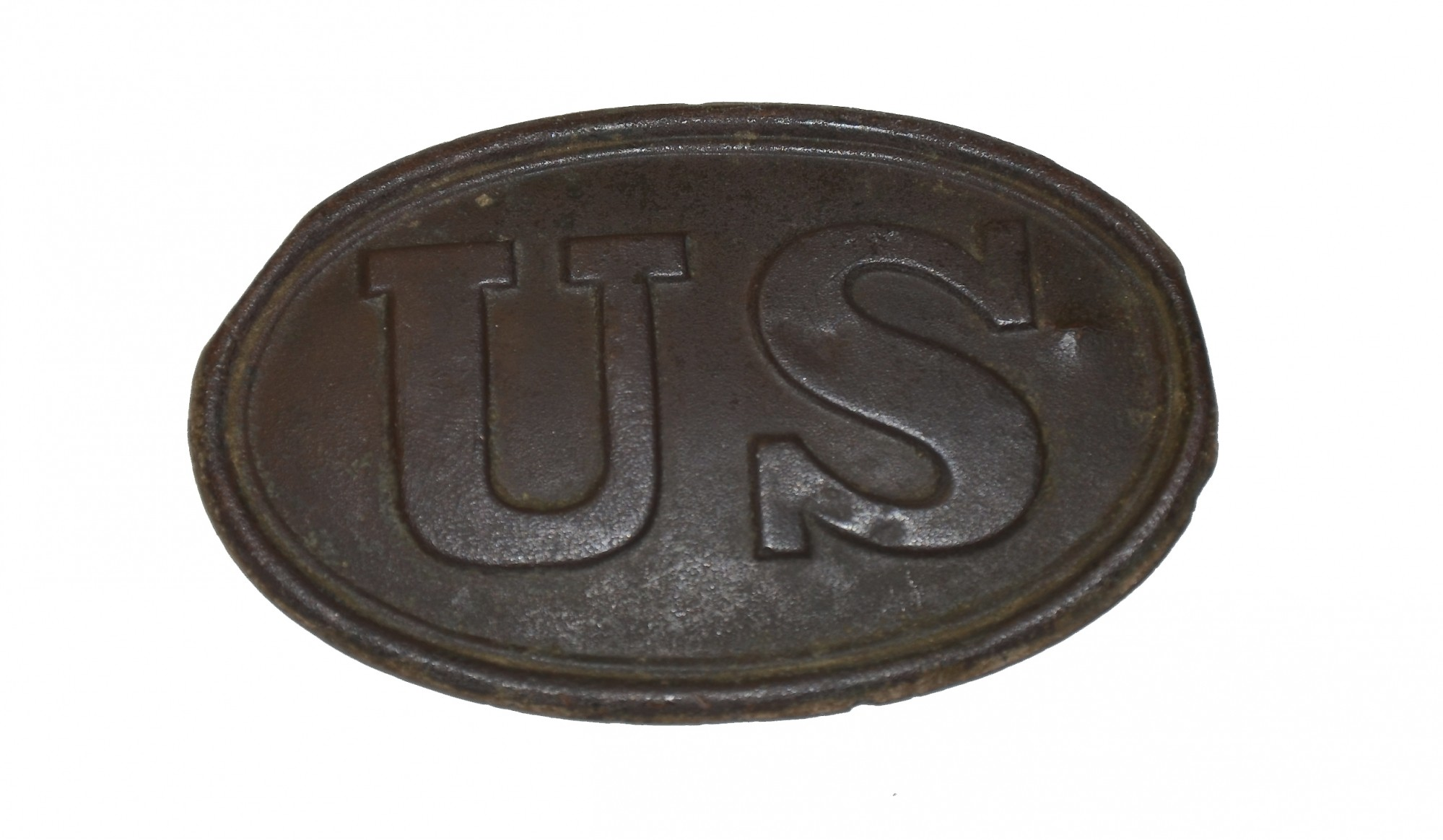 US PATTERN 1839 CARTRIDGE BOX PLATE FROM THE ROSENSTEEL FAMILY COLLECTION