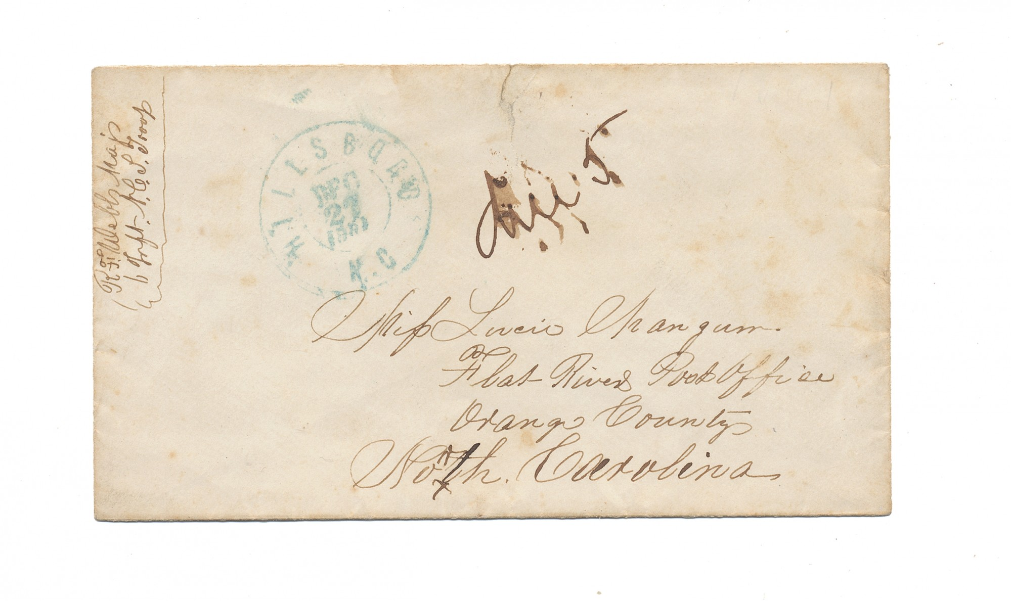 COVER FOR 6TH NORTH CAROLINA LETTER