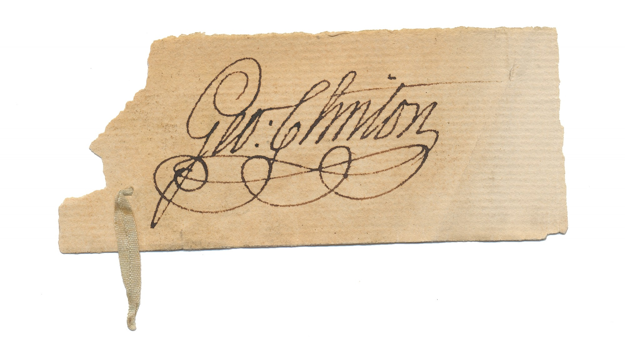 CLIPPED SIGNATURE OF US VICE PRESIDENT GEORGE CLINTON