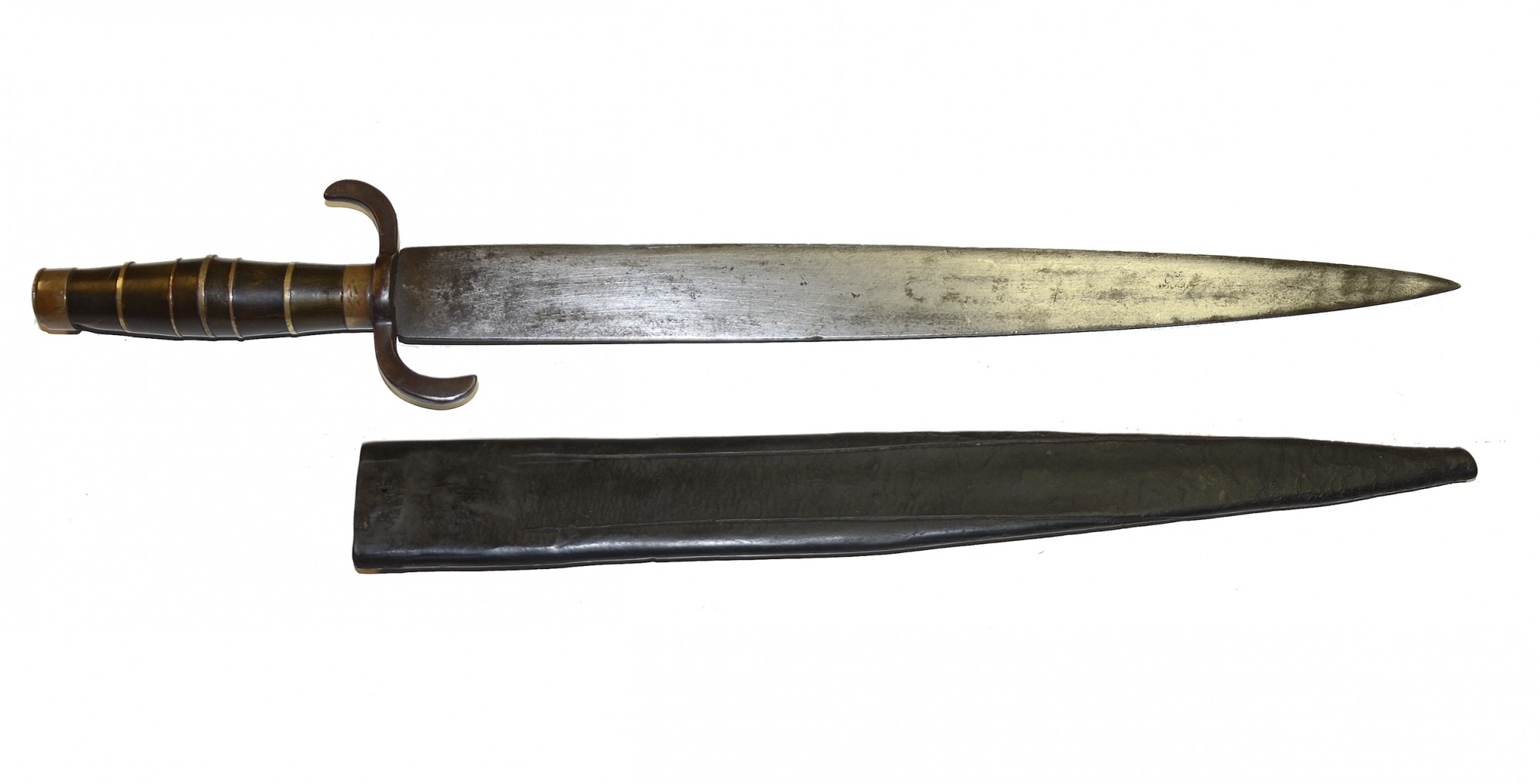 BOWIE KNIFE WITH NEW YORK TOKEN ATTACHED TO HANDLE