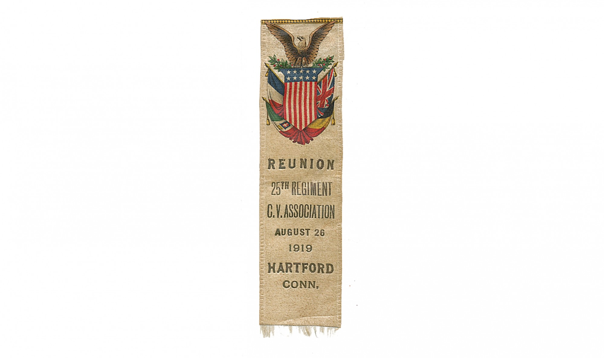 1919 25TH CONNECTICUT REUNION RIBBON