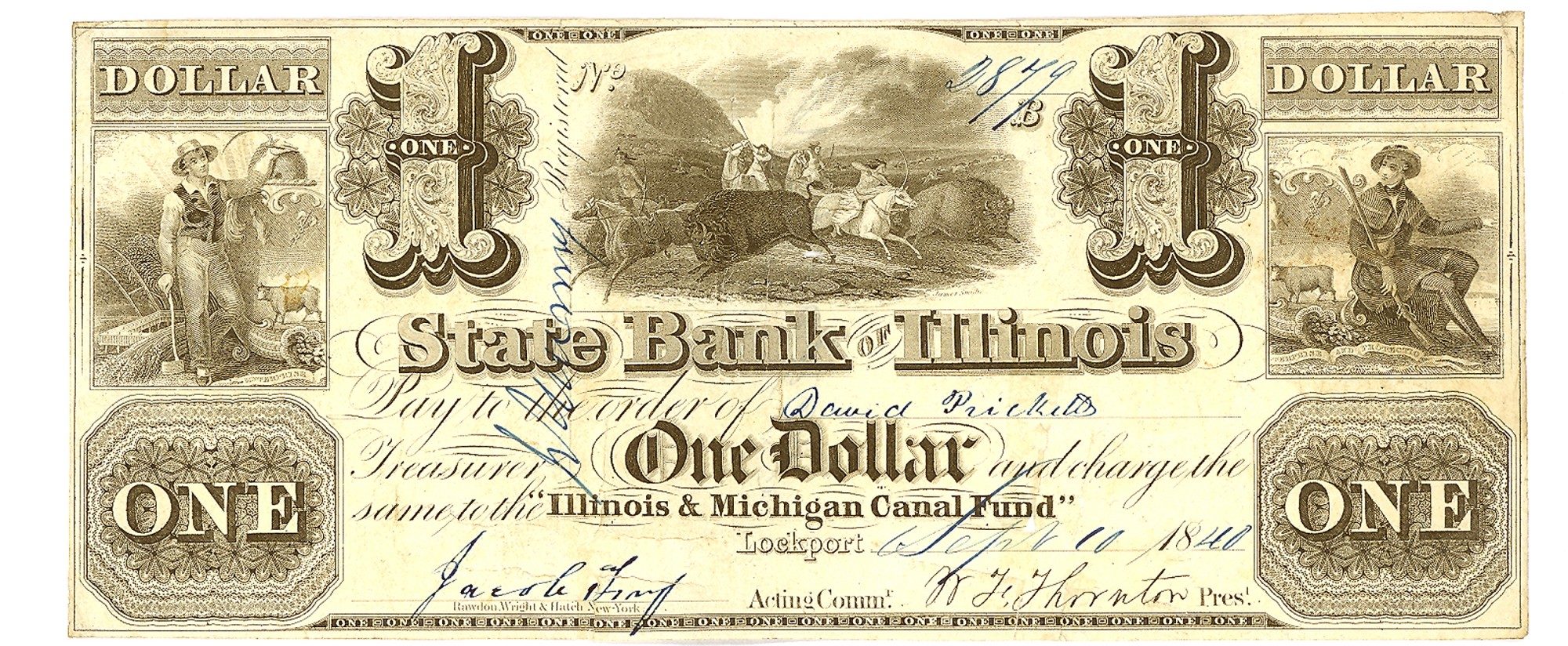 THE STATE BANK OF ILLINOIS LOCKPORT $1 NOTE
