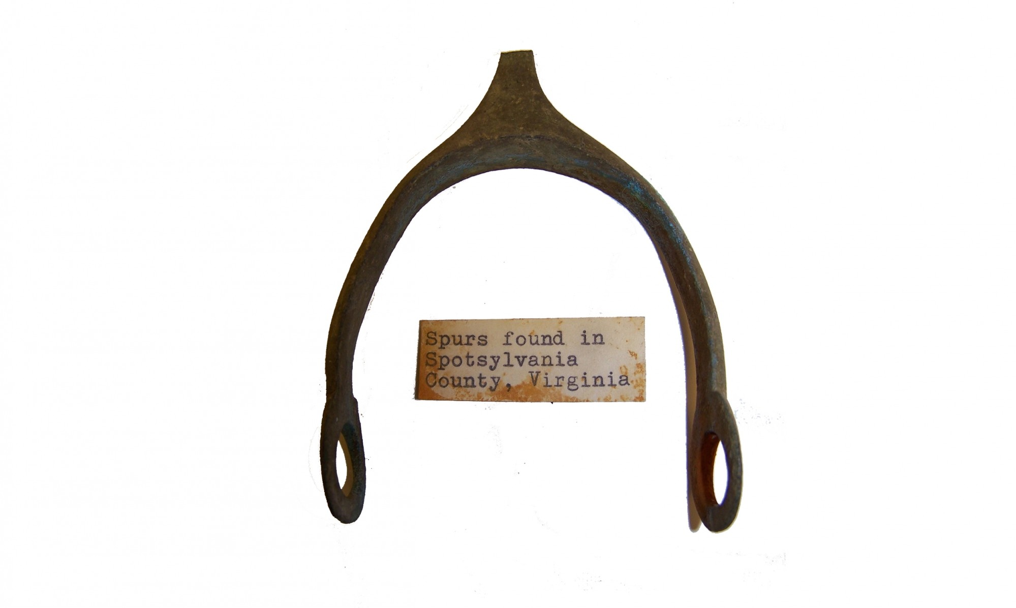CONFEDERATE SPUR RECOVERED FROM SPOTSYLVANIA COUNTY, VA