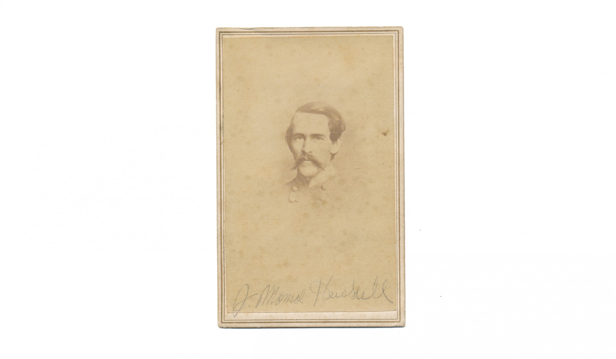 BUST VIEW CDV OF CONFEDERATE GENERAL ROBERT RODES WITH CONNECTION TO ONE OF MOSBY'S MEN