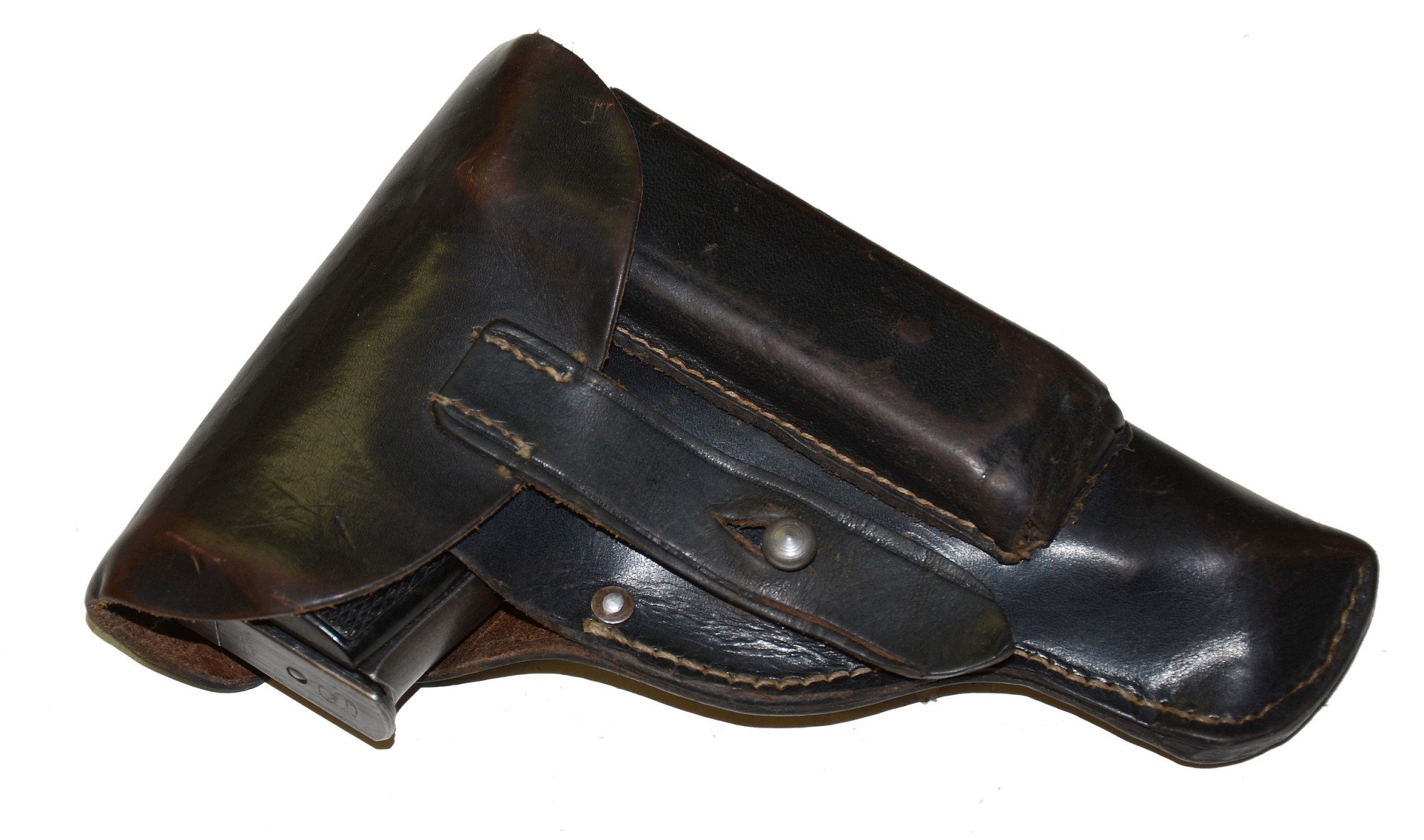 SAUER TYPE THREE 38-H MODEL POLICE PISTOL AND HOLSTER