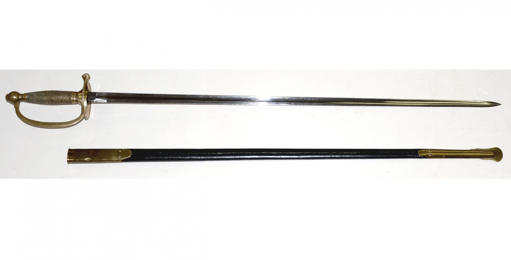 US MODEL 1840 NCO SWORD, DATED 1864