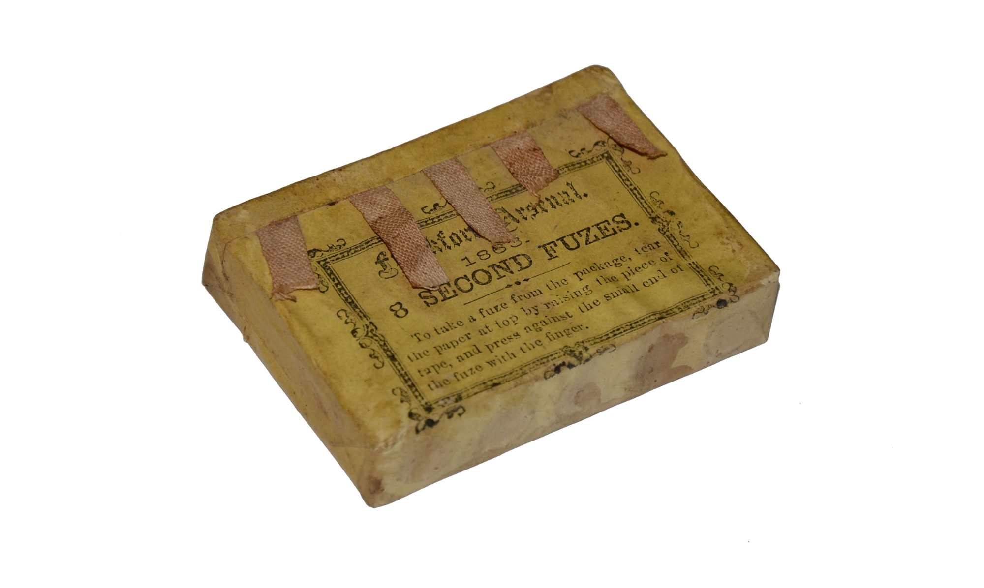 PACK OF 1863 FRANKFORD ARSENAL ARTILLERY FUSES