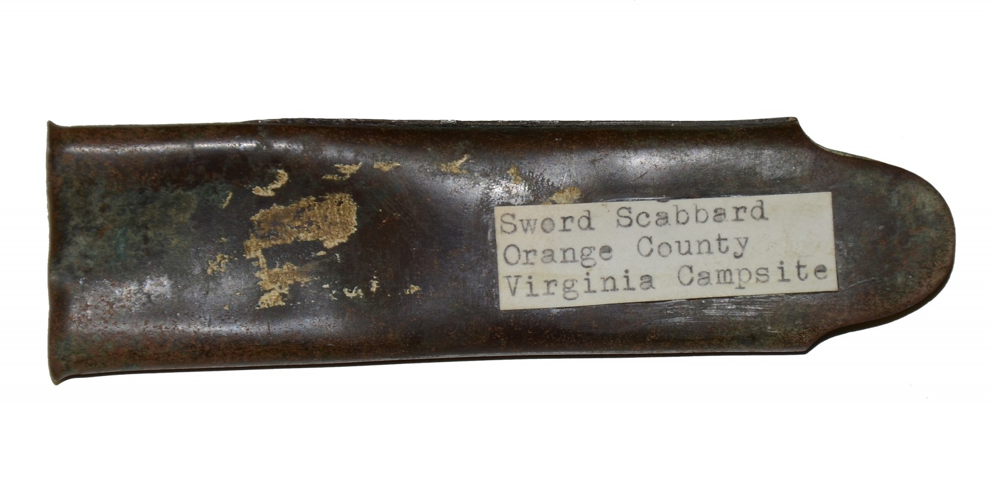 BRASS THROAT FROM A SCABBARD FOR A MODEL 1840 NCO SWORD