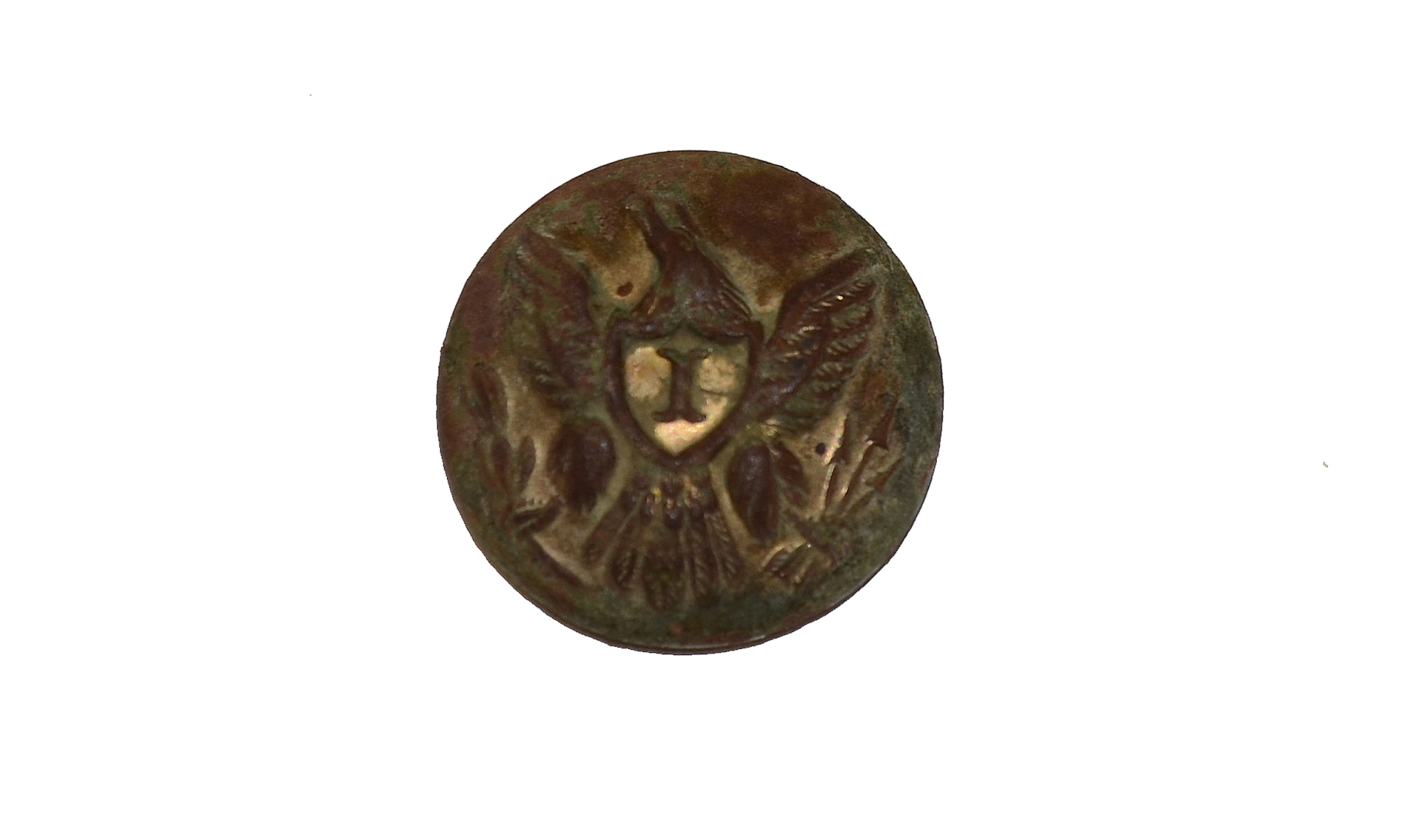 "U.S. EAGLE ""I"" OFFICER'S CUFF SIZE BUTTON"