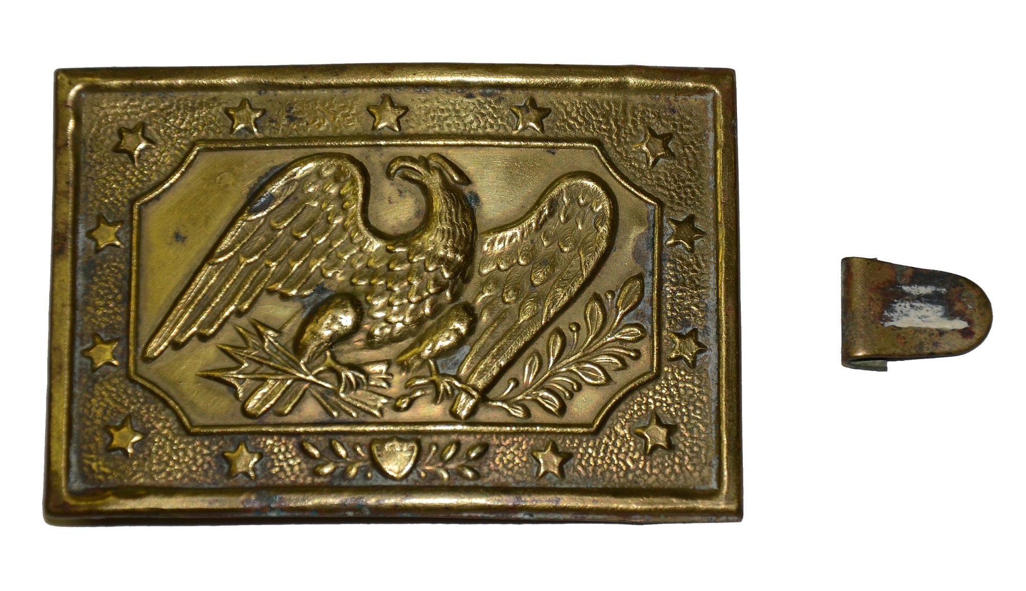 MILITIA EAGLE SWORD PLATE FROM THE GETTYSBURG ROSENSTEEL FAMILY COLLECTION