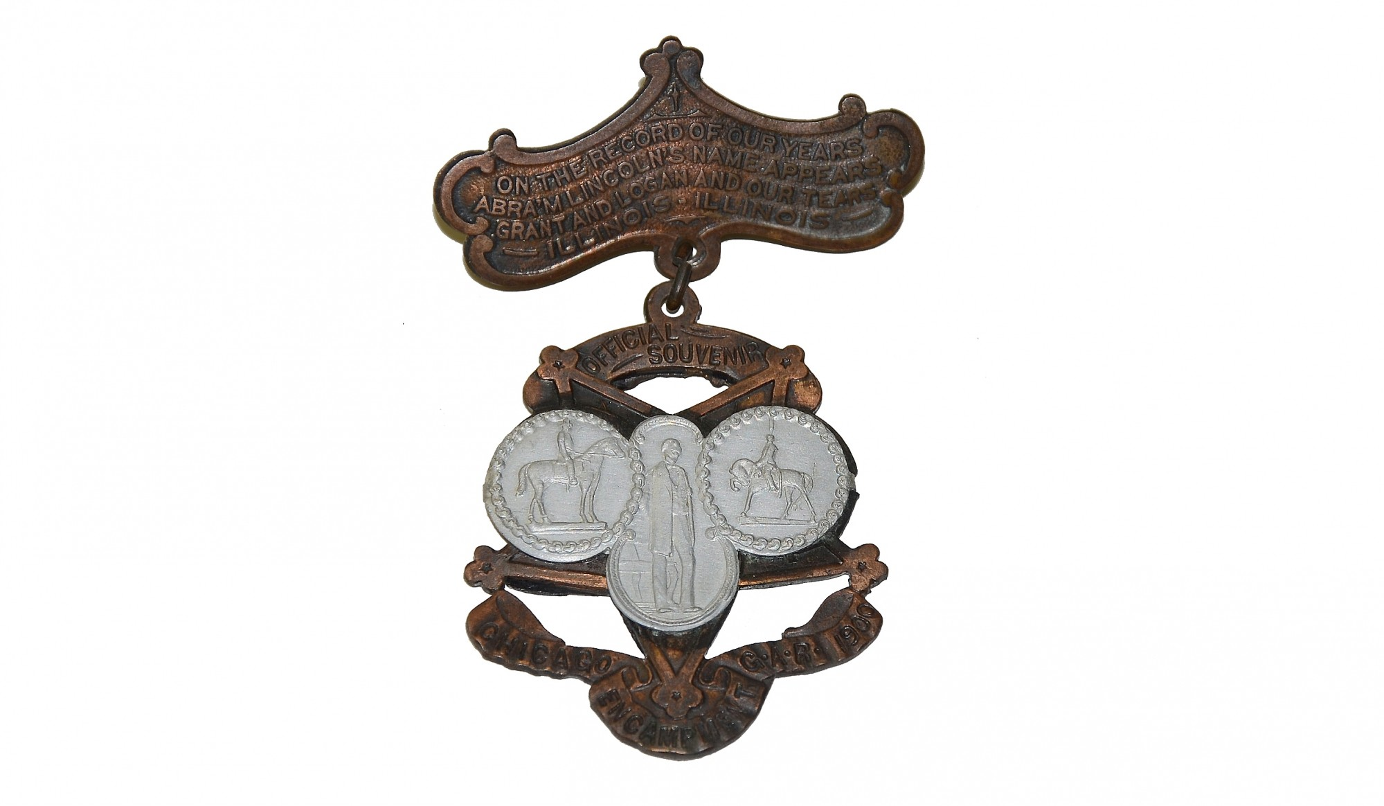 1900 GAR BADGE MADE OF CAPTURED CANNON