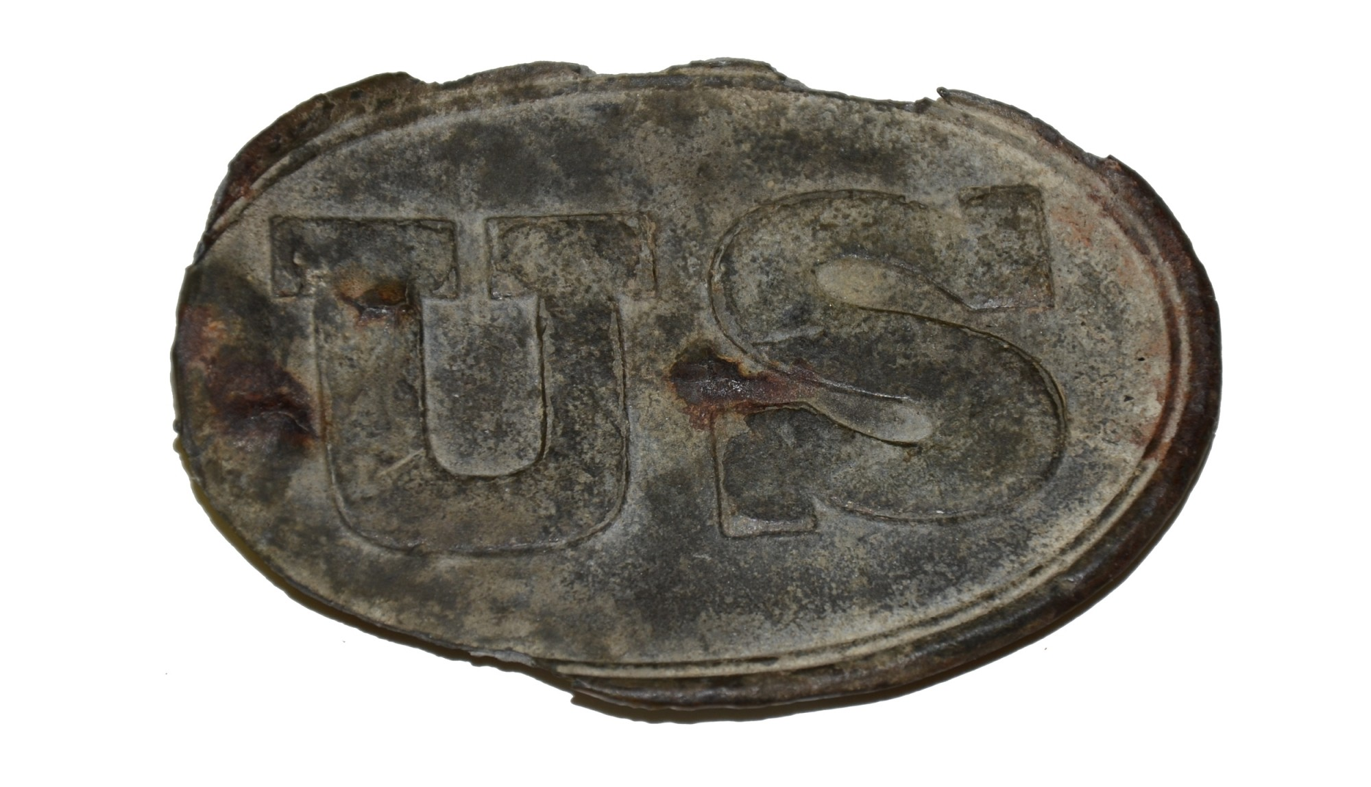US PATTERN 1839 CARTRIDGE BOX PLATE FROM GETTYSBURG