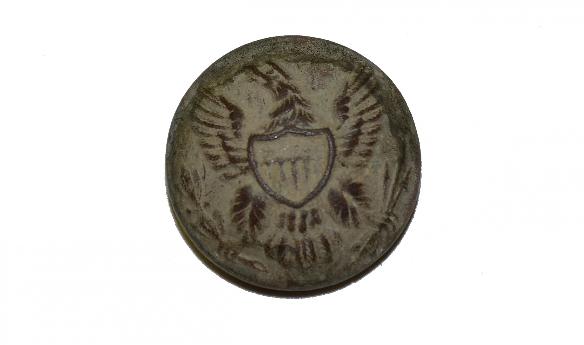 US INFANTRY GENERAL SERVICE EAGLE BUTTON RECOVERED AT LITTLE ROUND TOP