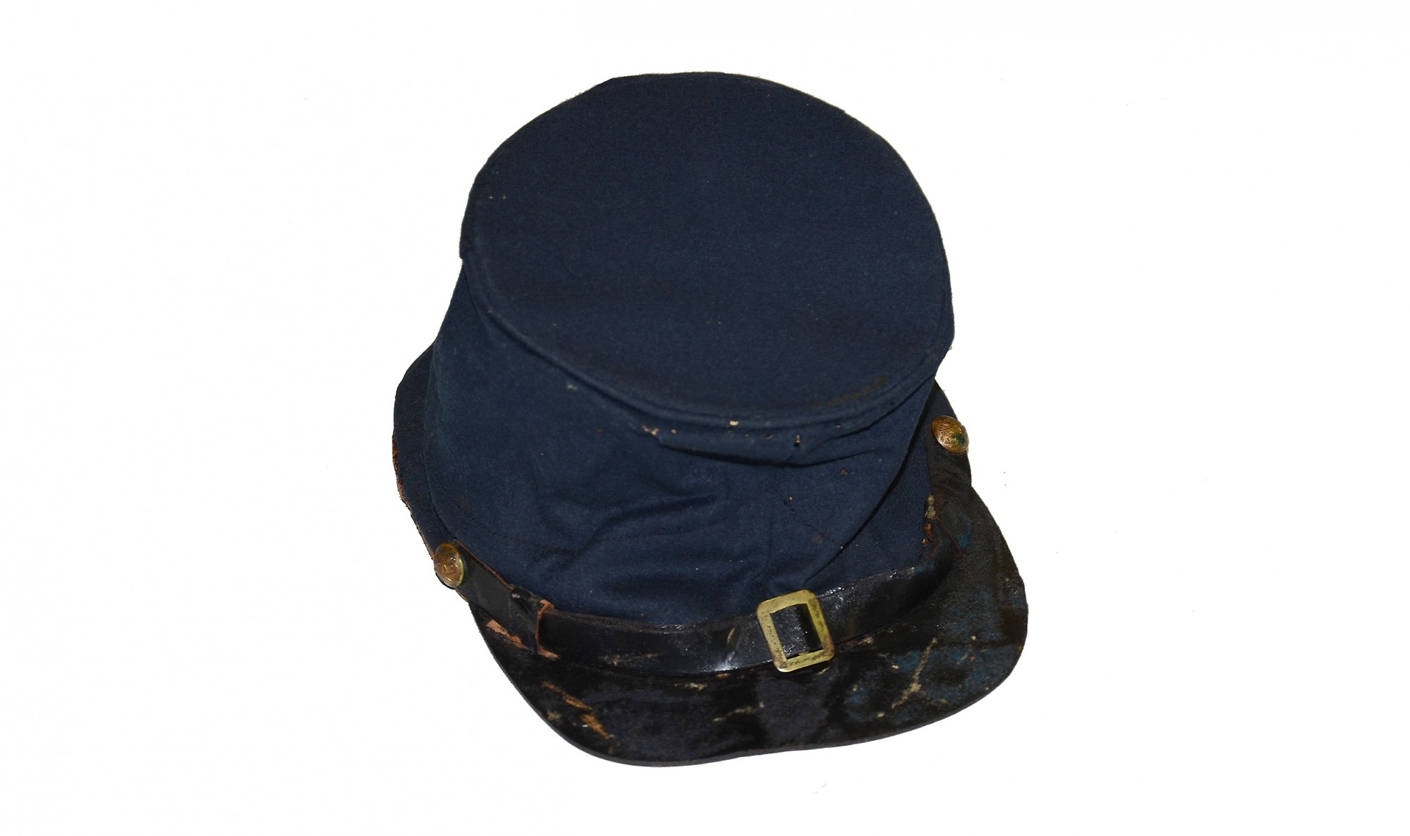 ORIGINAL, MAKER-MARKED M1858 FEDERAL FORAGE CAP VERBALLY ID'D TO THE 22ND MASSACHUSETTS VOLUNTEER INFANTRY