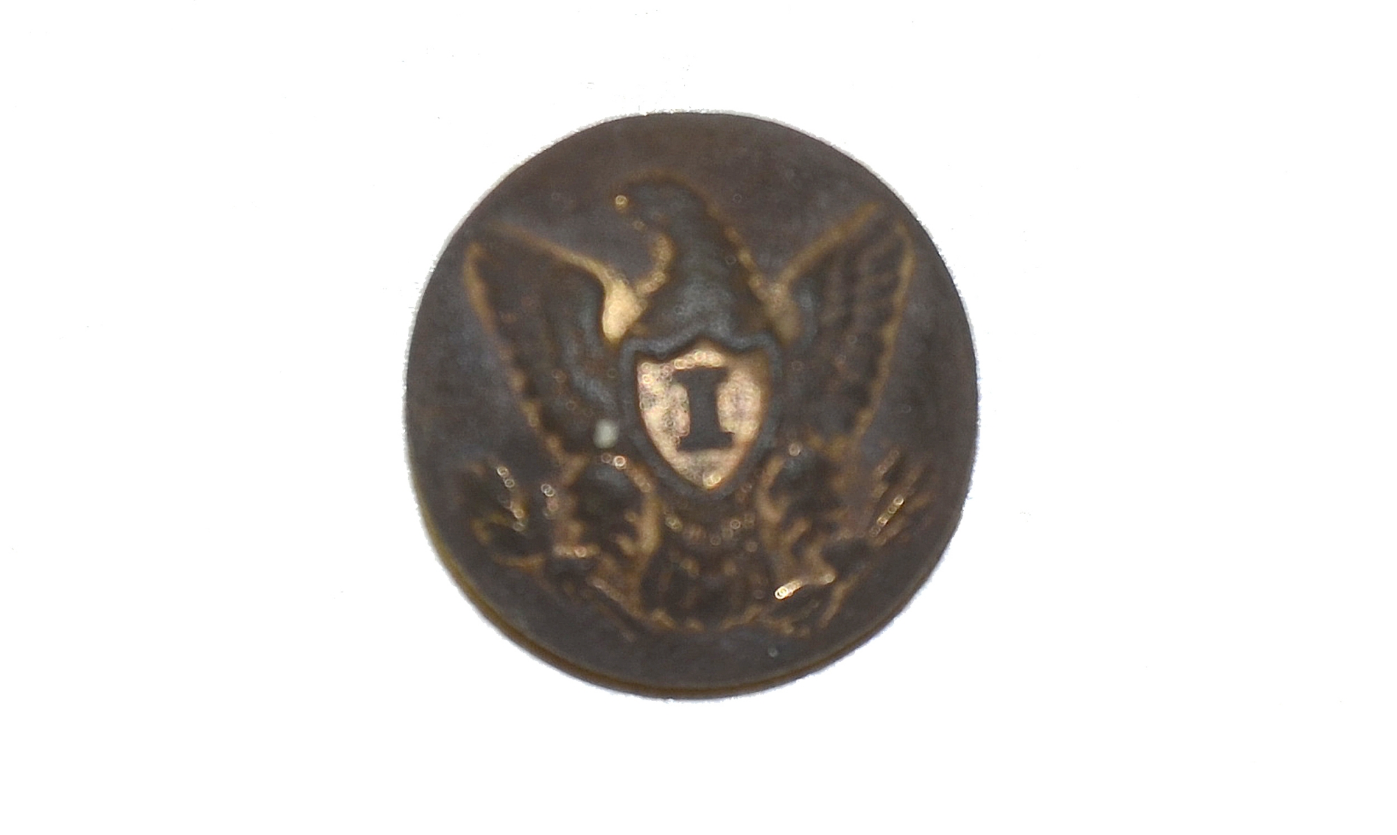 PATTERN 1851 OFFICERS EAGLE I CUFF SIZE BUTTON FROM THE GETTYSBURG ROSENSTEEL COLLECTION