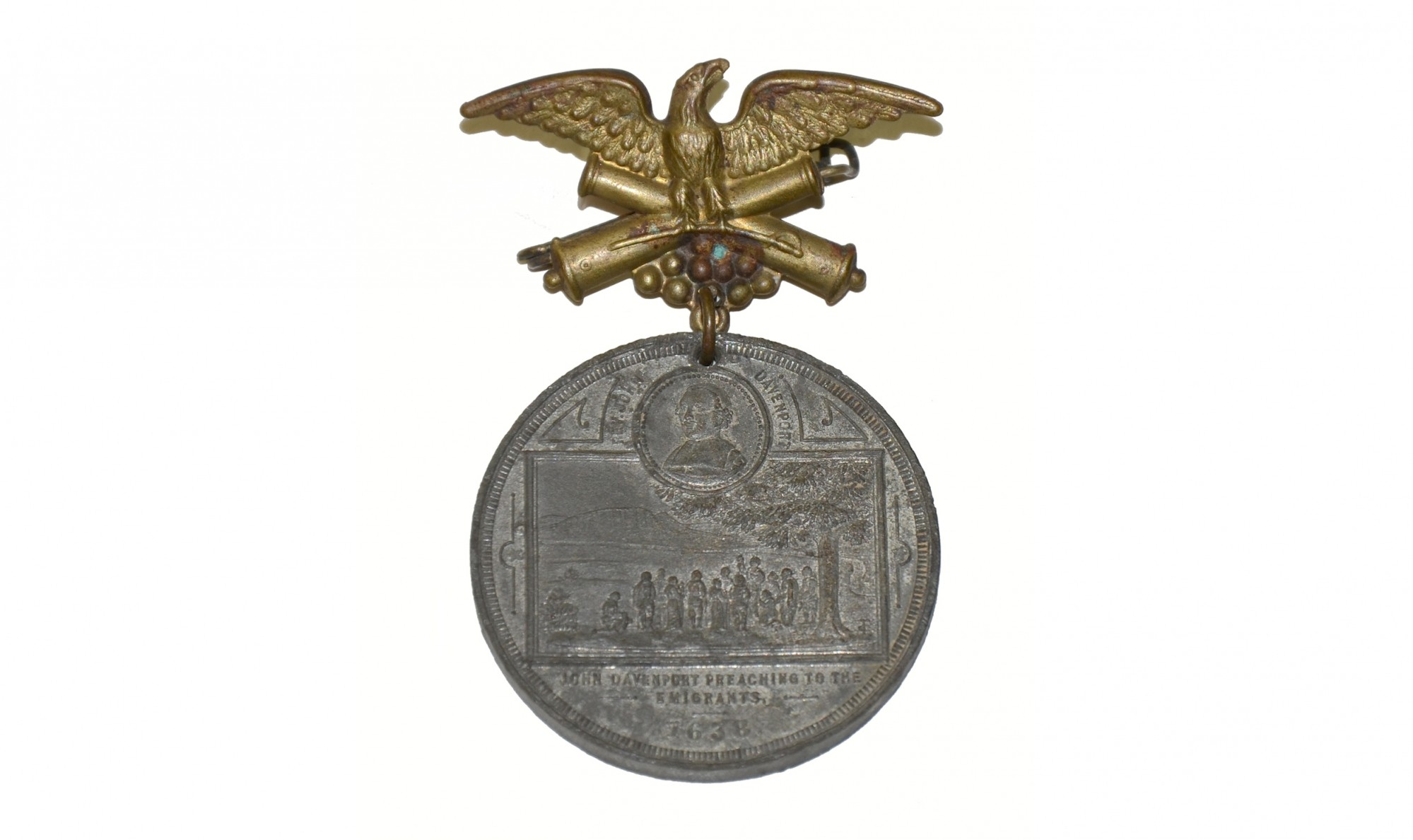 MEDAL FOR 250TH FOUNDING OF NEW HAVEN, CONNECTICUT