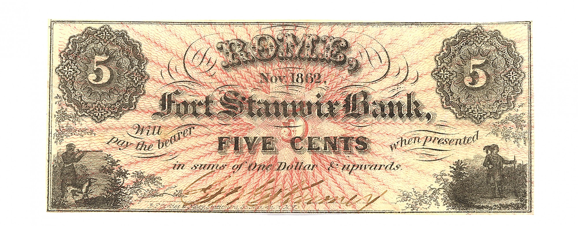 THE FIRST STANWICK BANK, ROME, NEW YORK $.05 NOTE